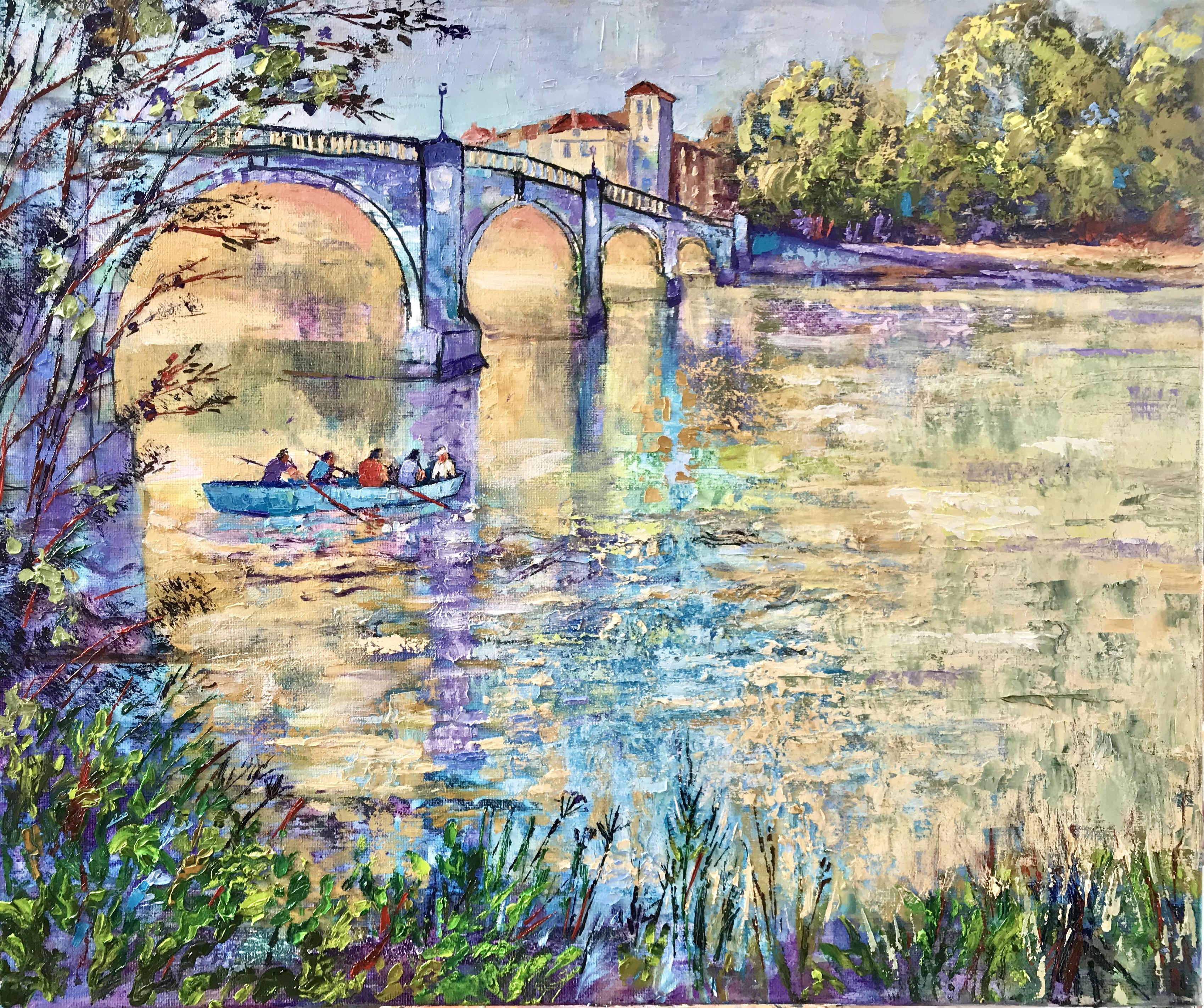 Richmond bridge. Oil 60cmx50cm