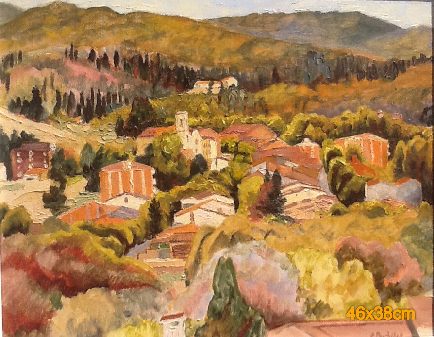 Autumn view over Vallgorguina. Oil on canvas.